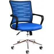 Bürocci Alisa Metal Ayaklı Çalışma Koltuğu-Mavi-2063A0542